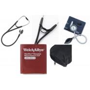 Blodtrycksmätare Welch Allyn DS44-11 med extra manschett, väska, stetoskop och namnbricka